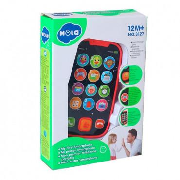 Музыкальная игрушка Hola Toys Мой первый смартфон (розовый)
