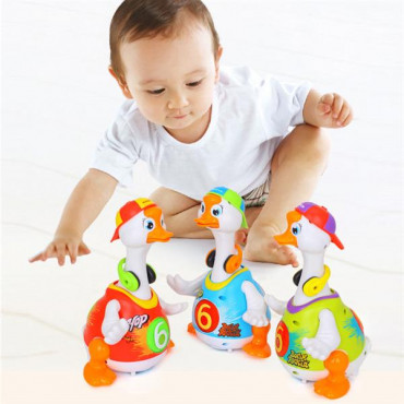 Інтерактивна музична іграшка Hola Toys Танцюючий гусак (синій)