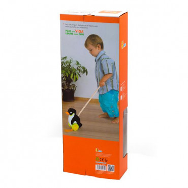 Деревянная каталка Viga Toys Пингвинчик