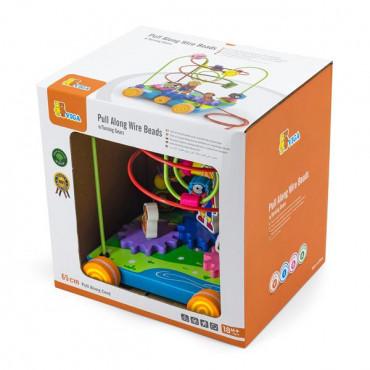 Деревянный лабиринт-каталка Viga Toys шестеренки