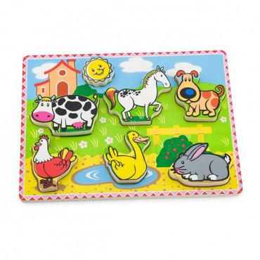 Деревянная рамка-вкладыш Viga Toys Зверята на ферме R