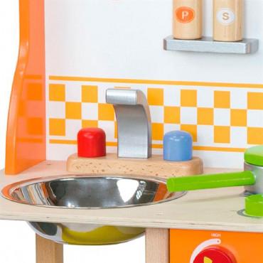 Детская кухня Viga Toys из дерева с посудой R