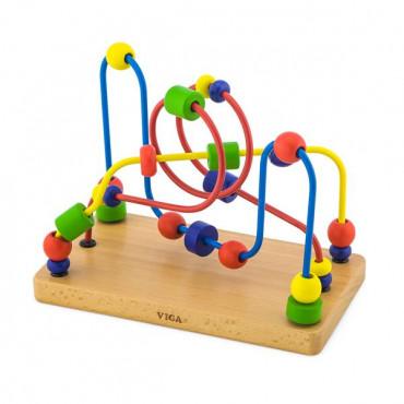 Деревянный лабиринт Viga Toys Цветные бусины