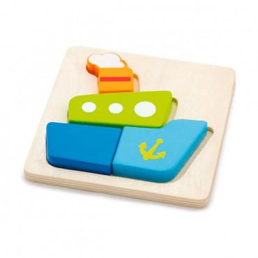 Деревянный мини-пазл Viga Toys Кораблик