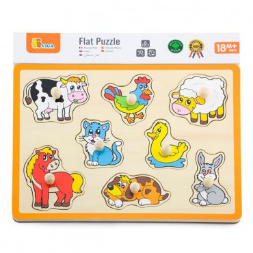 Деревянная рамка-вкладыш Viga Toys Домашние животные