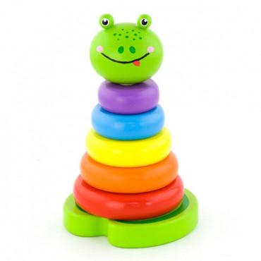 Деревянная пирамидка Viga Toys Лягушка