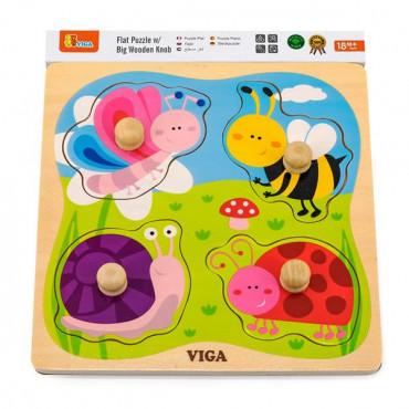 Деревянная рамка-вкладыш Viga Toys Насекомые