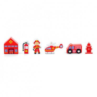 Набор для железной дороги Viga Toys Пожарная станция