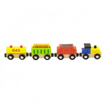 Набор для железной дороги Viga Toys Грузовой поезд с топливом