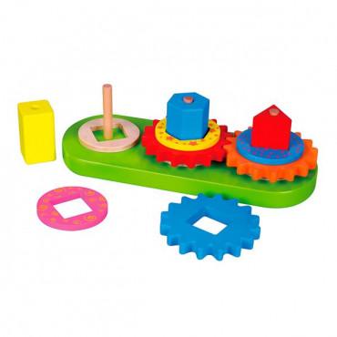 Деревянная пирамидка Viga Toys шестеренки