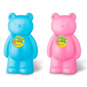 Копилка 4M Большой мишка (голубой/розовый)