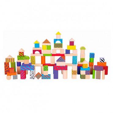 Деревянные кубики Viga Toys Узорчатые блоки 100 шт., 3 см
