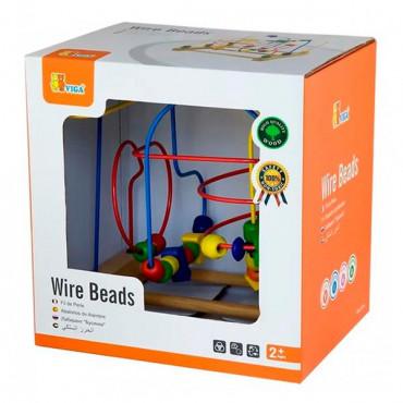 Деревянный лабиринт Viga Toys Бусины и фигурки