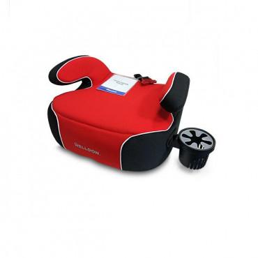 Автокресло бустер Welldon Penguin Pad (красный/черный)