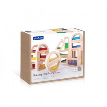 Ігровий набір блоків Guidecraft Сенсорна веселка, 14 см, 18 шт.
