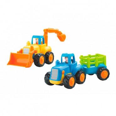 Набір іграшкових машинок Hola Toys Бульдозер і трактор, 6 шт.