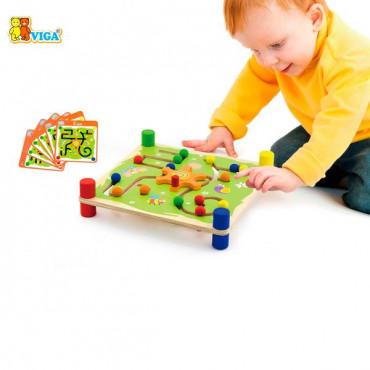 Деревянный лабиринт Viga Toys Шарики