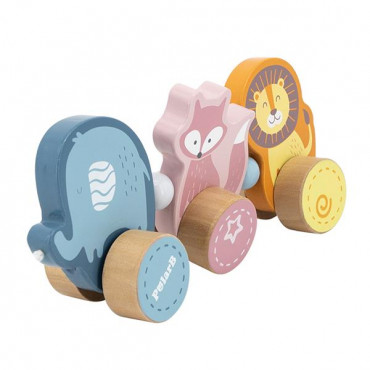 Деревянная каталка Viga Toys PolarB Зверята