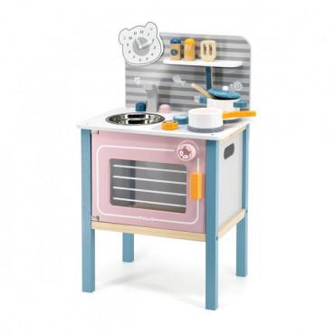 Детская кухня Viga Toys PolarB из дерева с посудой