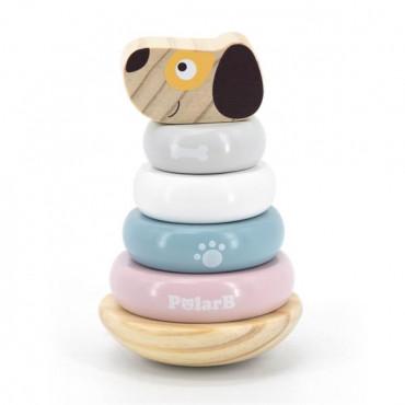 Деревянная пирамидка Viga Toys PolarB Собачка, неваляшка