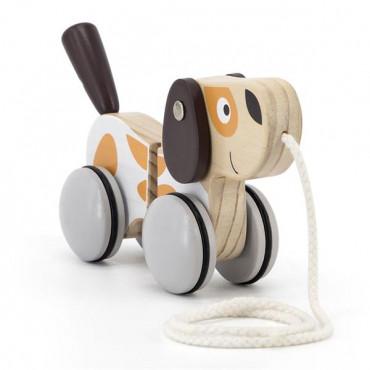 Деревянная каталка Viga Toys PolarB Собачка