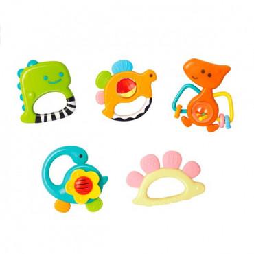 Набір брязкалець Hola Toys Динозаври, 5 шт. в коробці
