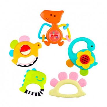 Набор погремушек Hola Toys Динозавры, 5 шт. в коробке