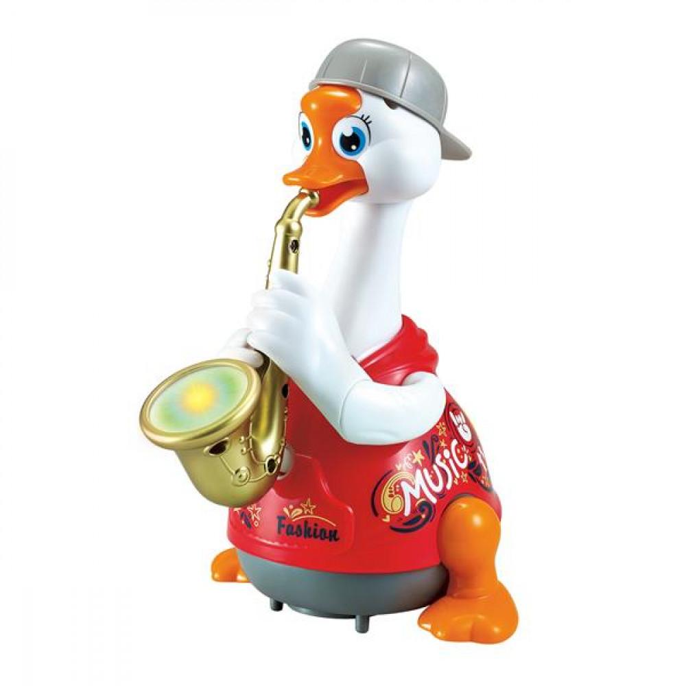 Інтерактивна музична іграшка Hola Toys Гусь-саксофоніст (червоний)