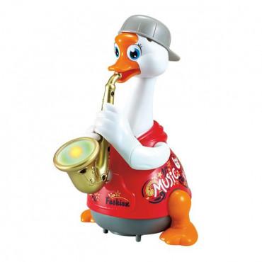 Интерактивная музыкальная игрушка Hola Toys Гусь-саксофонист (красный)