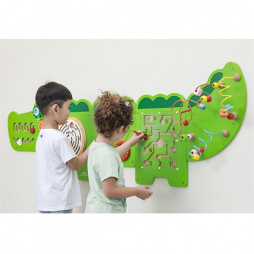 Бизиборд Viga Toys Крокодил, 5 секций