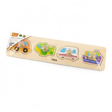 Деревянная рамка-вкладыш Viga Toys Виды транспорта