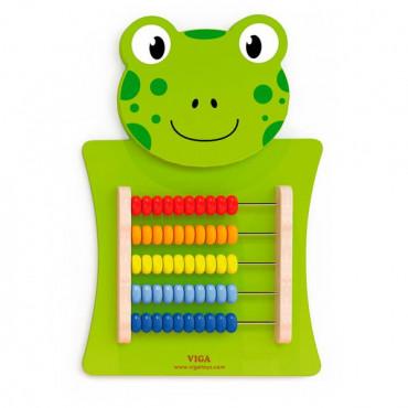 Бизиборд Viga Toys Лягушка со счетами