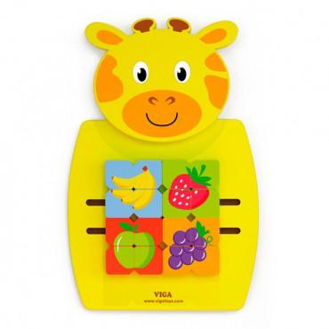 Бизиборд Viga Toys Жираф с фруктами