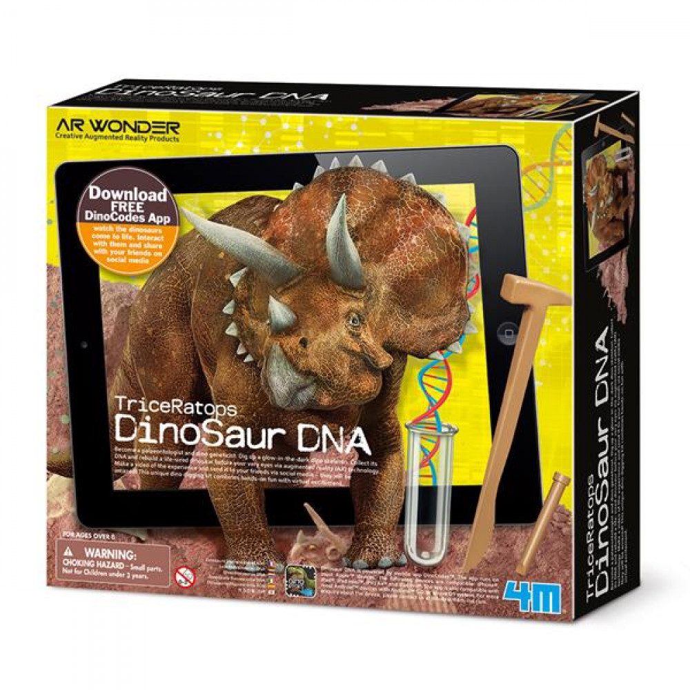 Набір для розкопок 4M ДНК динозавра Трицератопс