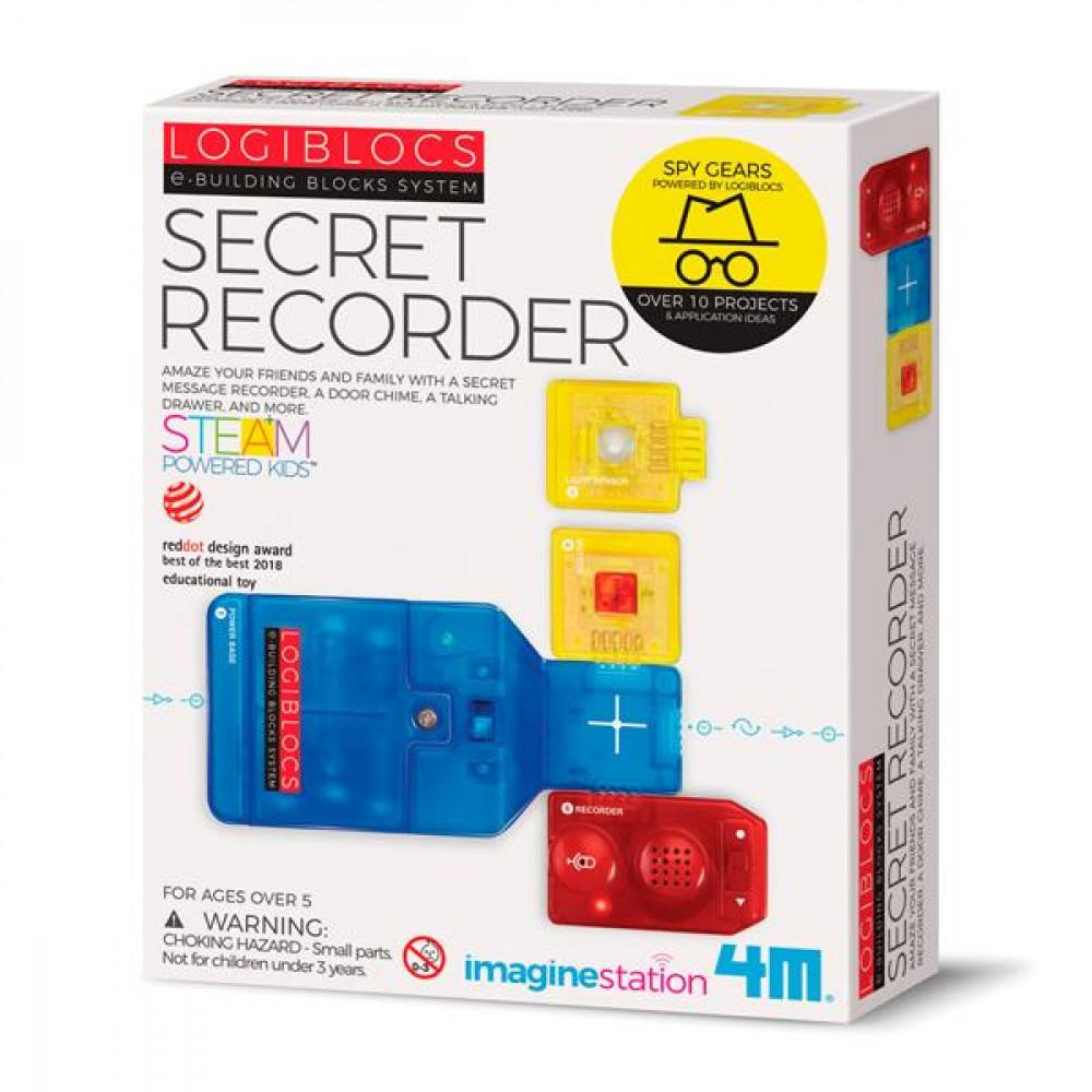 Набір шпигуна 4M Записуючі пристрої