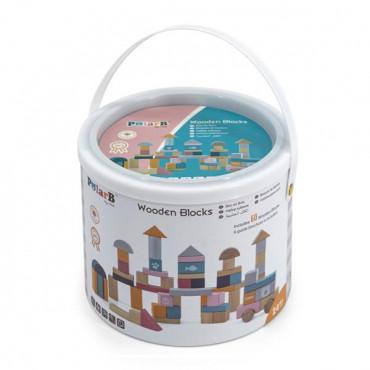 Деревянные кубики Viga Toys PolarB Пастельные блоки, 60 шт., 2,5 см
