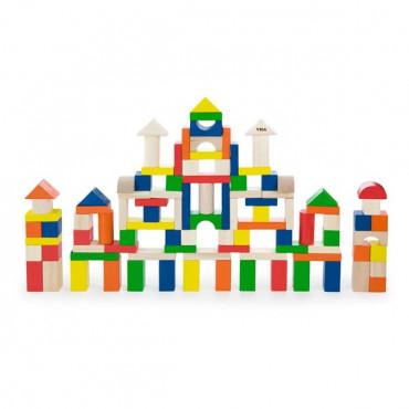 Деревянные кубики Viga Toys Большая стройка, 100 шт., 2,5 см