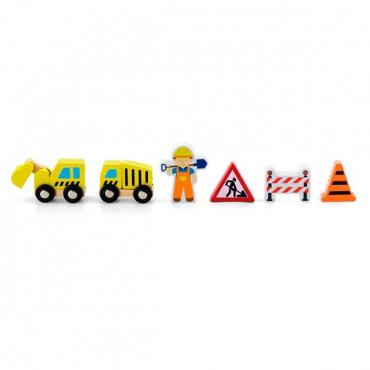 Набор для железной дороги Viga Toys Дорожные работы