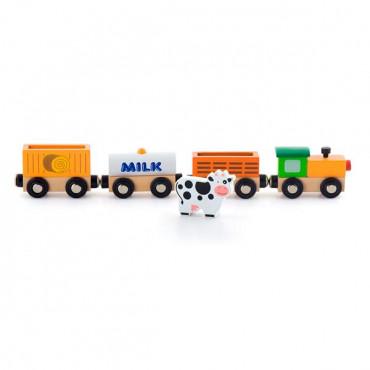 Набор для железной дороги Viga Toys Поезд-ферма