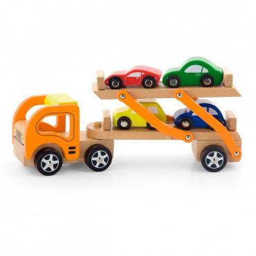 Деревянная игрушечная машинка Viga Toys Автотрейлер