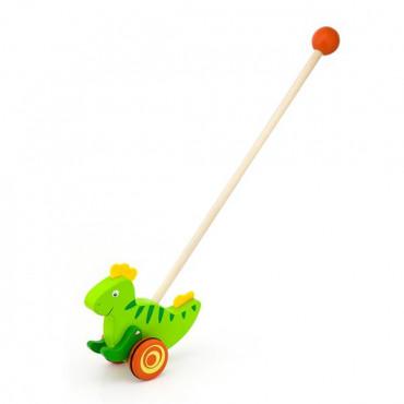 Деревянная каталка Viga Toys Динозаврик