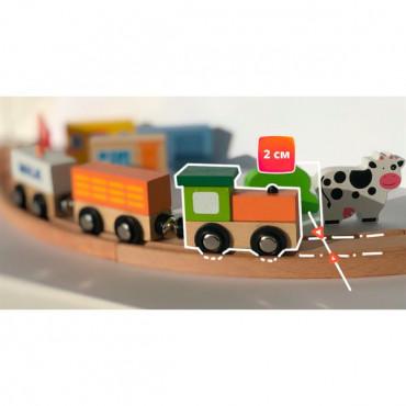 Деревянная железная дорога Viga Toys 90 эл.