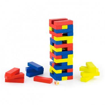 Деревянная настольная игра Viga Toys Цветная Дженга