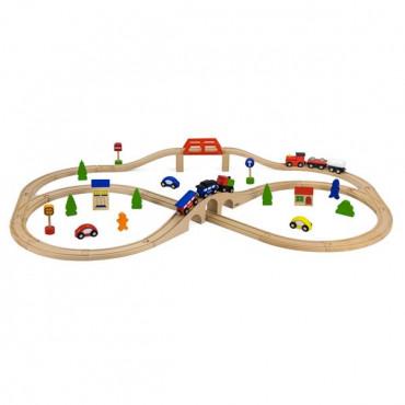 Деревянная железная дорога Viga Toys 49 эл.