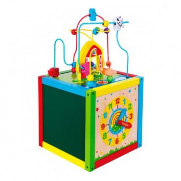 Деревянный бизикуб Viga Toys 5 в 1