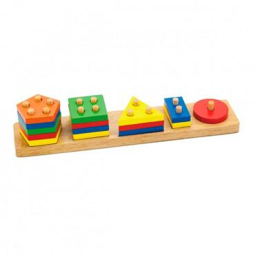 Деревянная логическая пирамидка Viga Toys Геометрические фигуры
