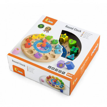 Деревянный пазл-сортер Viga Toys Часы