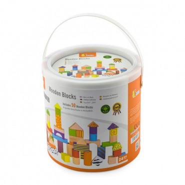 Деревянные кубики Viga Toys Узорчатые блоки 50 шт., 3 см
