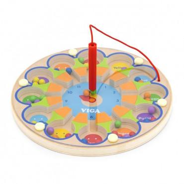 Магнитный лабиринт Viga Toys Часы