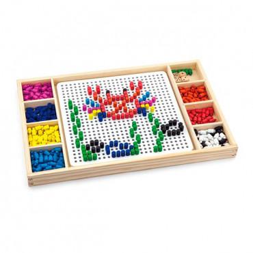 Деревянная настольная игра Viga Toys Мозаика и Лудо